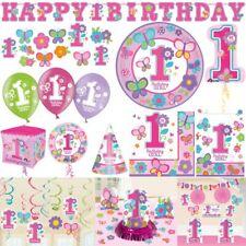 1. Geburtstag Mädchen rosa Sweet Girl pink Deko Kindergeburtstag Zahl 1 Erster