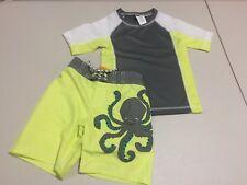 NWT Gymboree Toddler boy rash guard Top Trunk Octopus Set 2T,3T,4T,5T UPF 50+