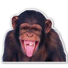 Chimp Funny Monkey Car Vinyl Sticker - SELECT SIZE