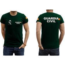 Camiseta Guardia Civil Letras Blanca y Bandera