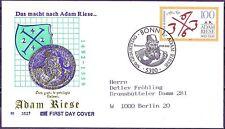 BRD 1992: Adam Riese! FDC der Nr 1612 mit Bonner Sonderstempel! Gelaufen! 1702