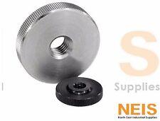 Kipp Knurled Nut Thumb Nut, Stainless Steel or Oxidised Steel M4 M6 M8 M10 K0144