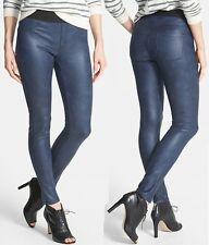 Karen Kane Navy Faux Stretch Leather Leggings Pants - MSRP $108