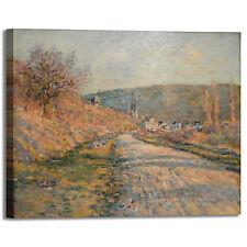 Monet strada per Vétheuil design quadro stampa tela dipinto telaio arredo casa