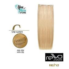 Extension clip capelli veri lisci naturali SHE Rewo Hair 27gr 50 55 cm 3 clip