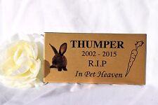 Pet photo memorial grave personalised plaque sign dog, cat, animal