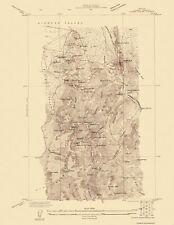 Topographical Map Print - Eureka Mining District Nevada - USGS 1927 - 17 x 22
