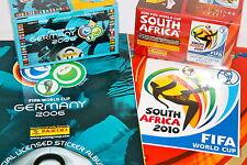 PANINI SET DA 1 x Display Box + Album WM WC GERMANY 2006 + South Africa 2010