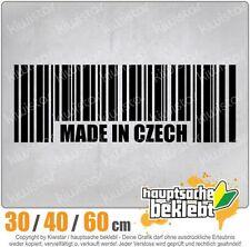 Made in Czech Barcode Prag chf0786  in 3 Größen JDM  Heckscheibe Aufkleber
