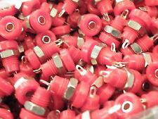 Bulgin 3mm Wander Plug Socket Red L1412/R Vintage Speaker Connector ER22