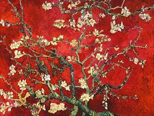 Vincent van Gogh: Mandorlo in fiore - rot Keilrahmen-Bild Leinwand Mandelblüte