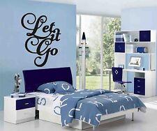 Let It Go Wall Art Sticker, Decalcomania, Murales, preventivo, decorativi - 3 X Taglia scelte