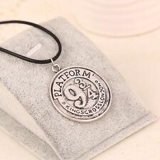 Harry Potter Hogwarts Train Station Platform 9 3/4 Necklace Pendant Silver/Gold