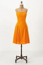 NWT Anthropologie Lasse Marigold Cotton Eyelet Dress Amazing 5 Stars size 8