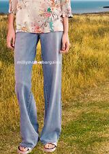 New Womens Blue Wide Leg NEXT Jeans Size 16 14 12 10 Long Regular RP£30