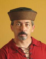 Medieval Celtic Renaissance SCA Larp Leather Merchant Hat No2