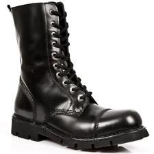 Outre CUIR NEW ROCK Unisexe Style Militaire Noir Fermeture eclair M.NEWMILI10-S1