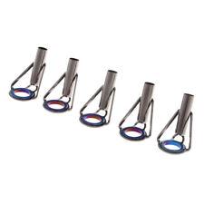 5pcs Fishing Rod Guides Blue Ring 6# - 9# Heavy Duty Fishing Rod Tip Tops
