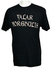 Game of Thones T-shirt Valar Morghulis Graphic Tee Black Cotton NWT