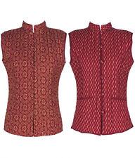 Cotton Lane Hand Block Reversible Printed Waistcoat W75. Sizes UK 8 to 38