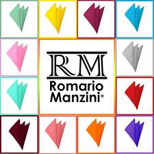 Pocket Square Manzini® Neckwear Bold Solid Color Polyester Formal Handkerchief