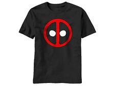 Marvel DEADPOOL CLASSIC ICON SYMBOL Logo - BLACK Adult Licensed T-Shirt - S-2XL