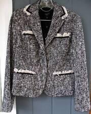 Talbots B&W Tweed Cotton Suit Jacket Blazer NWT PETITES