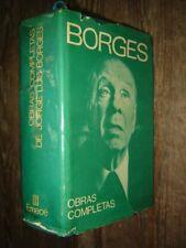 1974 Jorge Luis Borges Obras Completas. Primera edicion