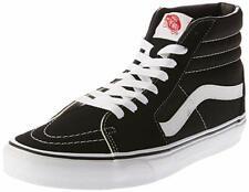 Vans Unisex Sk8 Canvas Suede Skate High-Top Shoes Black / White 100%Original New