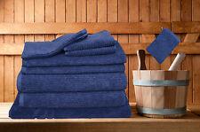 8 Pieces Egyptian Cotton Bath Towels Set Classic Ribbon 8 Colours With Bath Mat