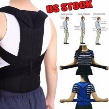 Deluxe Posture Corrector Double Pull Lumbar Lower Back Support Brace Waist Belt