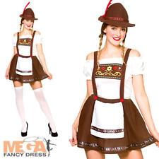 Donna Bavarese Birra Damigella Costume Tedesco Oktoberfest Donna Costume per adulti