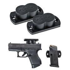 TLO GunMag Gun Magnet - Magnetic Gun Holster Mount for Vehicles, Home, Office