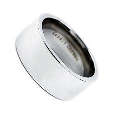 Polish Pipe Cut Wedding Band Ring 10mm Men's Cobalt Chrome Comfort Fit