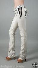 SG Sergio Gutierrez Liquid Metal White w/silver wash Jeans Jean Black Nickel