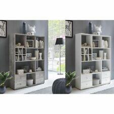 Raumteiler Regal Bücherregal Wandregal mit Schubladen in 2 Farben NEU/OVP