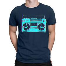 Ghetto Blaster Mens 80s Boombox T-Shirt Rap Hip Hop Rock Old Skool Retro Top Tee