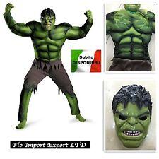 Hulk Maschera Vestito Carnevale Bambino Boy Cosplay Costumes HULK01