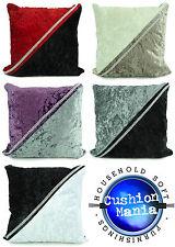 "Large cushions crush velvet 2 Rows Diamante 2 Tone Covers 17X17""or 21""X21"""