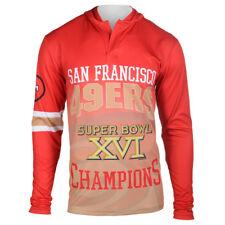 San Francisco 49er's Super Bowl XVI Champions NWT Hooded Shirt L, XXL Free Ship