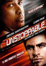 Unstoppable (DVD, 2011) Chris Pine, Rosario Dawson, Denzel Washington
