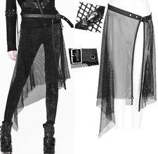 Jupe asymétrique résille ceinture gothique punk lolita skull dark mode Punkrave