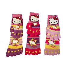 HELLO KITTY calzini antiscivolo con dita+ guanti in morbida lana taglia unica