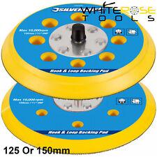 Silverline Sander Backing Pad Hook & Loop Polisher Sponge Sanding Disc
