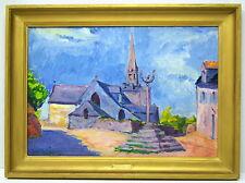 Jacques VAILLANT (1879-1934)-France-OIL-La Place de NIZON-Finistere-BRITTANY