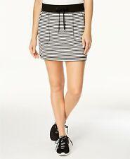 Ideology Womens Striped Short Skirt Classic Stripeblack