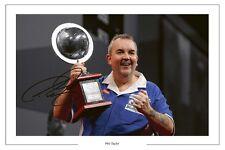 PHIL TAYLOR DARTS WORLD CHAMPION SIGNED PHOTO PRINT