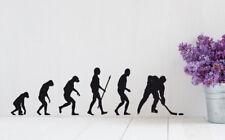 Wandaufkleber Eishockey Evolution Aufkleber Hockey Sport Kinderzimmer WandTattoo