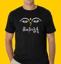 Nepal Tibet T-shirt Eyes of Buddha with mantra OM MANI PADME HUM