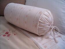 NEW Custom Ralph Lauren Prairie Plains Floral Stripe Neckroll Pillow Neck Roll